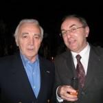 Avec Charles AZNAVOUR, en mai 2008