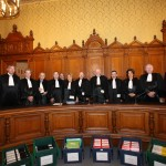 Les membres de la Cour de Justice de la République, lors du procès de Charles Pasqua du 19 au 30 avril 2010
