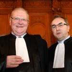 Lors du procès de Charles Pasqua devant la Cour de Justice de la République, le 20 avril 2010