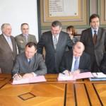Visite du Ministre Michel Mercier en Haute-Marne, à Langres le 12 février 2010 (photo préfecture)