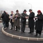 Inauguration d'un parking à Bourg Sainte Marie, le 19 février 2010