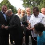le 30 août 2013, à LONGEAU, inauguration du pôle enfance et Culture