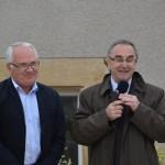 le 29 juin 2013, à VERSEILLES LE BAS, inauguration de la place communale