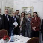 """le 23 mai 2013, au Sénat, déjeuner """"agir pour la compétitivité"""", organisé par le Sénateur Serge Dassault"""