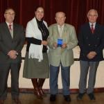 Le 29 novembre 2013, à ROZIERES,  remise de médaille à Raymond Geoffrin maire délégué (43 années de mandat communal)  (photo Corinne Loccidal, JHM)